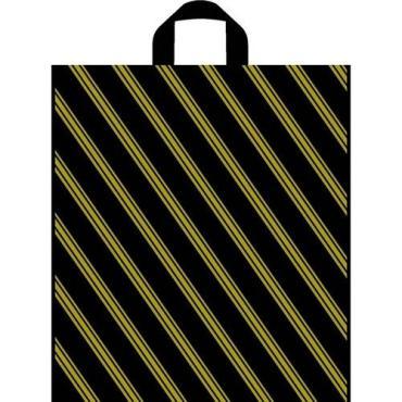 Сумка-пакет 40х44см с петлевой ручкой 50 шт. ТикоПластик Золотая полоса