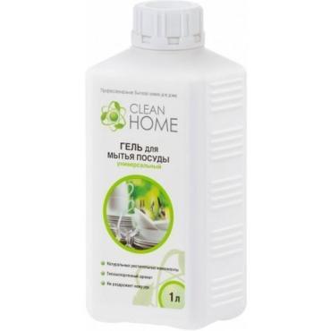 Гель Запасной блок для мытья посуды, универсальный Clean Home, 1 л., Пластиковая бутылка