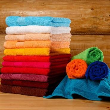 Полотенце махровое 40х70 см., гладкокрашенное, 100% хлопок, цвет ярко-зеленый 95 гр.