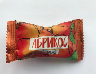 Конфеты АБРИКОС в глазури 1,0кг