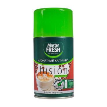 Освежитель воздуха сменный баллон Master Fresh Ароматный капучино, 250 мл., аэрозольная упаковка