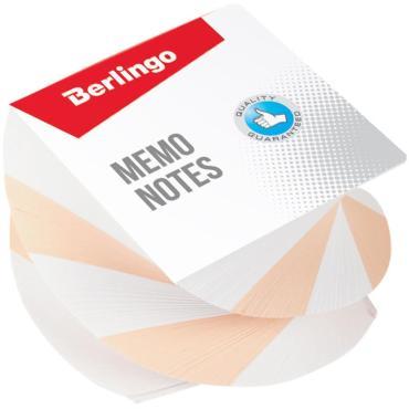Блок для записи на склейке Berlingo Classic, 8*8*5см, витой, цветной