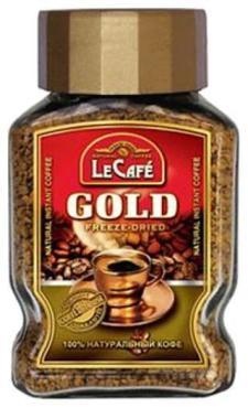 Кофе Lecafe Gold 95 гр., стекло