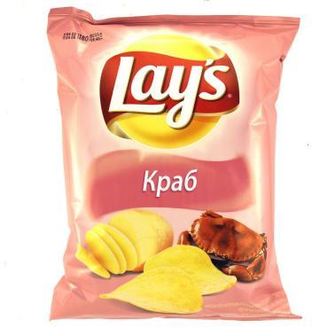 Чипсы со вкусом краба, Lay's, 150 гр, флоу-пак