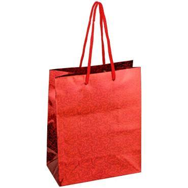 Пакет подарочный 18*23*10см ArtSpace, голографический красный