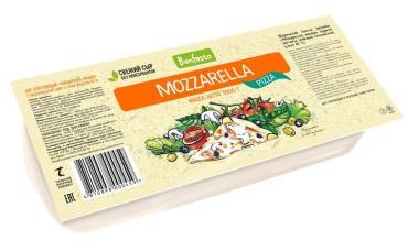 Сыр полутвердый 40% Bonfesto Mozzarella Pizza, 1 кг., пластиковая упаковка