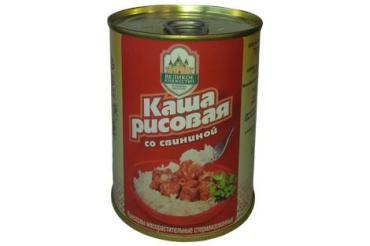 Каша рисовая со свининой Великое Княжество, 340 гр., жестяная банка