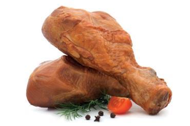 Голень из мяса индейки, копчёно-вареные, вакуумная упаковка
