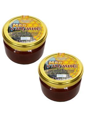Мед с мумие Бийский пчелоцентр, 250 гр., стекло