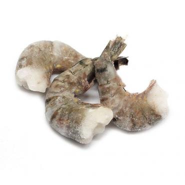 Креветки чёрные тигровые б/г., 8/12, Бангладеш, Вьетнам, Тайланд, 1 кг., пластиковый пакет