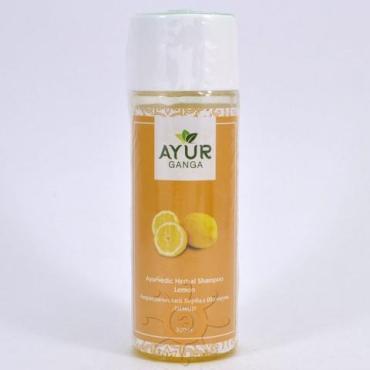 Шампунь лимон AYUR GANGA, 200 мл., пластиковая бутылка