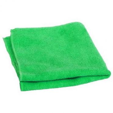 Салфетка для уборки 30*30 см., зеленая микрофирба махра, Доляна
