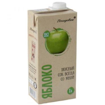 Нектар яблочный ЛейФрут 1 л., тетра-пак