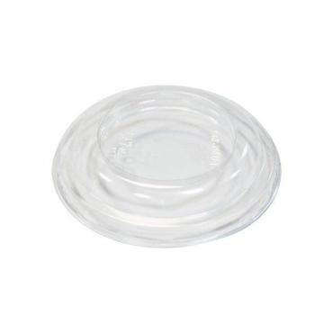 Крышка для контейнера круглая d=76 мм., h=13 мм., прозрачная, ПЭТ Стиролпласт, картон