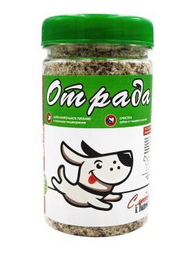Лакомство для собак Рубец говяжий меленый, Отрада, 1,5 л., пластиковая банка
