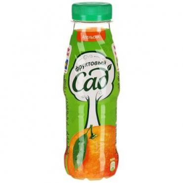 Нектар апельсин, Фруктовый Сад, 300 мл., пластиковая бутылка