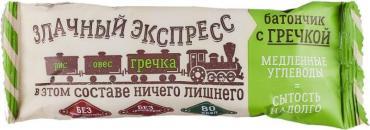 Батончик-мюсли с гречкой Злачный экспресс, 26 гр., флоу-пак