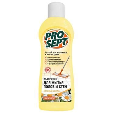 Концентрат для мытья полов и стен полевые цветы Prosept Multipower, 800 мл., пластиковая бутылка