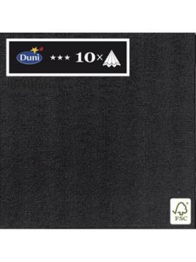 Салфетки одноразовые 10шт 40х40см Черный Duni Di Brilliance soft, пластиковый пакет