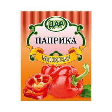 Перец красный паприка, Дар, 50 гр., бумажная упаковка