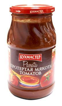 Мякоть томатов протертая, Кухмастер, 480 гр., стекло