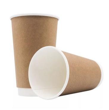 Стакан бумажный 400 мл. для горячего крафт 50 шт., 20 упаковок