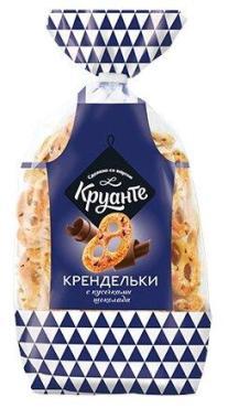 Печенье слоеное с кусочками шоколада Крендельки, Круанте, 215 гр., пакет