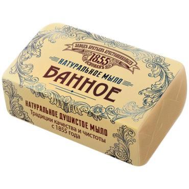 Мыло туалетное натуральное ЗБК Банное, 190 гр., бумажная упаковка