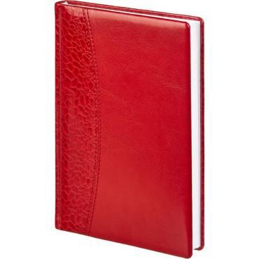 Ежедневник недат,комби,красный,А5,148х218мм,176л