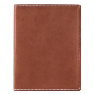 Бизнес-тетрадь Attache Клэр А5, 120л, клетка, кожзам, коричневая 11.02