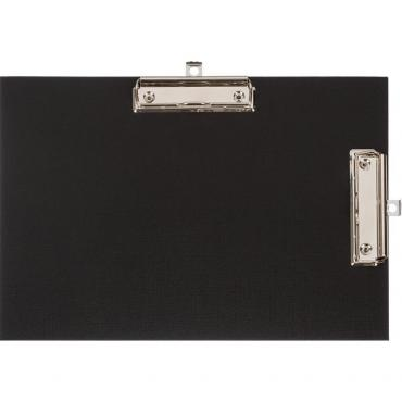 Папка-планшет Attache A4 горизонтальный, с двумя зажимами черный