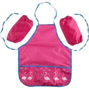 Фартук для труда №1 School Flamingo  44x54 см, 2 кармана, нарукавники