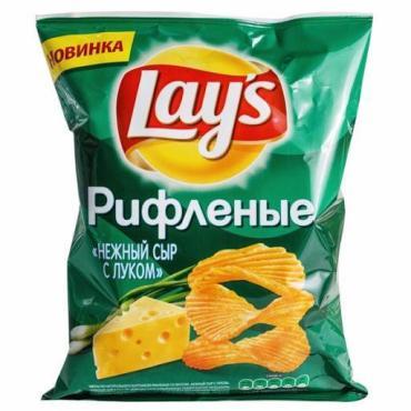 Чипсы со вкусом Нежный сыр с луком, Lay's, 90 гр, пакет