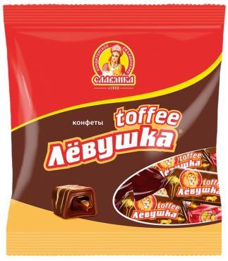 Конфеты Славянка Левушка toffee, 1 кг., пластиковый пакет