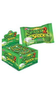 Жевательная резинка Saadet Shock2shock apple 4 гр., флоу-пак