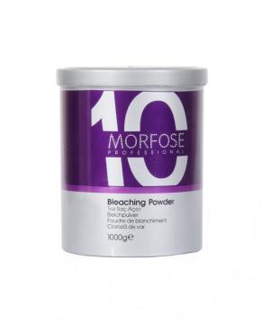 Пудра обесцвечивающая для волос Morfose 10, 1 кг., пластиковая банка