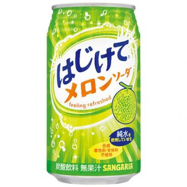 Напиток со вкусом дыни Sangaria Melon 350 гр., жестяная банка