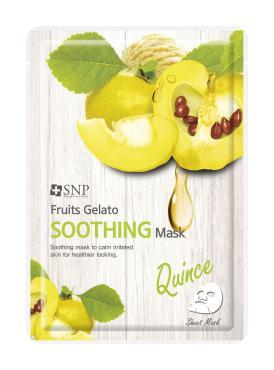 o Маска тканевая для лица успокаивающая, айва, SNP Fruits Gela 25 мл., сашет