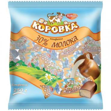 Конфеты Рот-Фронт Коровка, 250 гр., пластиковый пакет