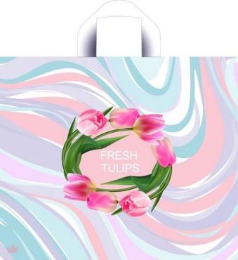 Сумка-пакет 40*34 с петлевой ручкой Круговорот цветов, 50 шт.
