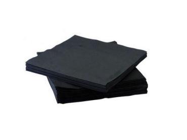 Салфетки 24*24 см., 1-слойные черные, 400 шт., Lenek, пластиковый пакет