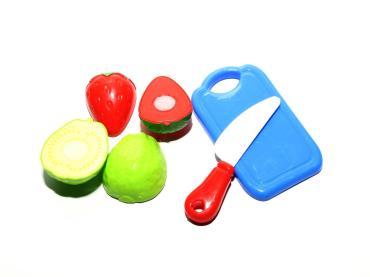 Набор фруктов на липучке с разделочной доской, пластиковый пакет