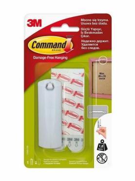 Крючок для рамок с системой крепления, с твердыми петлями, легкоудаляемый Command, блистер