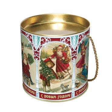 Новогодний подарок Ретро Красный Октябрь 300 гр., жестяная банка