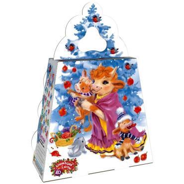 Новогодний подарок Елочка мультик радость Красный Октябрь 1,2 кг., картонная коробка
