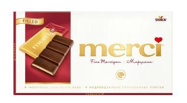 Шоколад Merci Марципан 112 гр.
