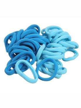 Набор резинок для волос  синий 24 шт. Диаметр 4 см., пакет