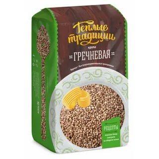 Гречка ядрица Теплые традиции 900 гр., пластиковый пакет