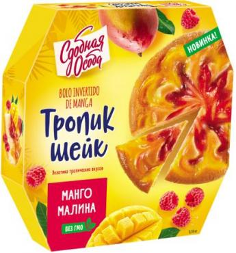 Пирог тропик-шейк манго и малина, Сдобная особа 380 гр., картон