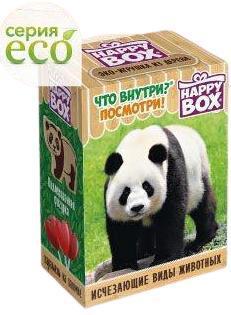 Набор Happy box Исчезающие виды животных, картонная коробка